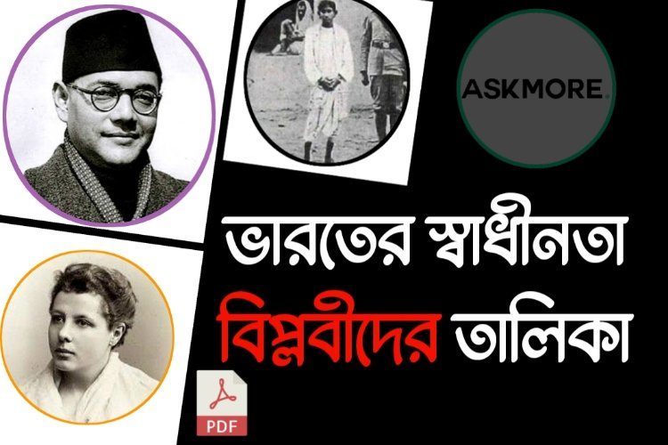 List of Indian Independence Revolutionaries PDF Download  |  ভারতের স্বাধীনতা বিপ্লবীদের তালিকা PDF Download