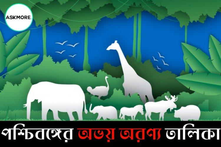 List Of Wildlife Sanctuary in West Bengal PDF | পশ্চিমবঙ্গের বন্যপ্রাণীর অভয়ারণ্যের তালিকা