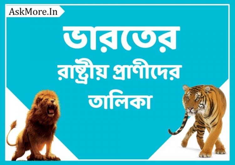 ভারতের রাষ্ট্রীয় প্রাণীর তালিকা || List of State Animals of India